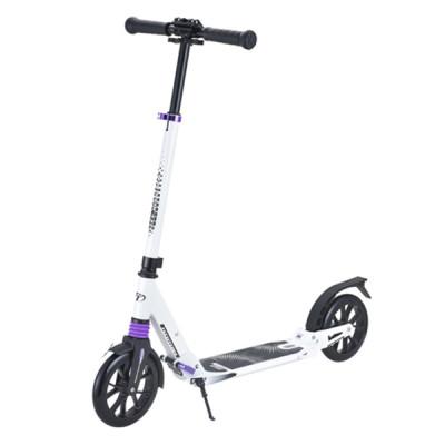 Самокат с большими колесами City scooter white