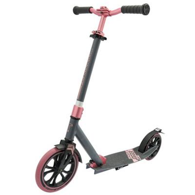 Самокат с большими колесами ТТ 230 jogger серо-розовый