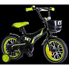 """Детский велосипед Nameless 14"""" Cross черный/зеленый"""