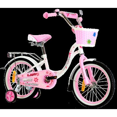 """Детский велосипед Nameless 18"""" LADY, белый/розовый"""