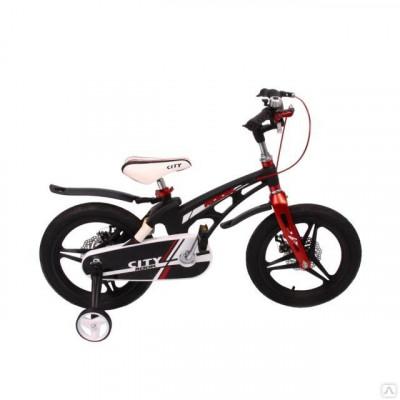 """Детский велосипед Rook 14"""" City черный"""