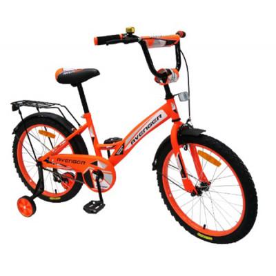 """Детский велосипед AVENGER 18"""" """"NEW STAR"""" оранжевый неон/черный"""