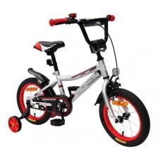 """Детский велосипед AVENGER 16"""" """"SUPER STAR, серый/красный"""