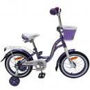 """Детский велосипед Nameless 14"""" Lady фиолетовый/белый"""