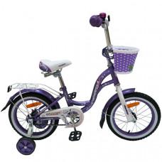 """Детский велосипед Nameless 12"""" LADY, фиолетовый/белый"""