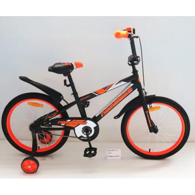 """Детский велосипед Nameless 20"""" Sport черный/оранжевый"""