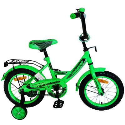 """Детский велосипед Nameless 12"""" Vector, зеленый/черный"""