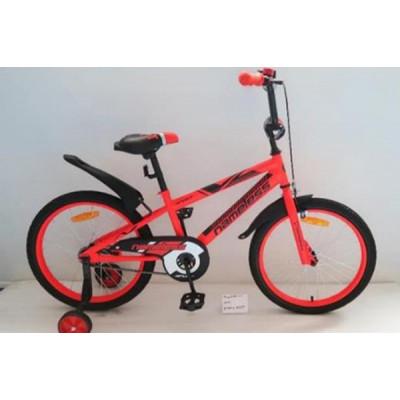 """Детский велосипед Nameless 14"""" SPORT, черный/оранжевый"""