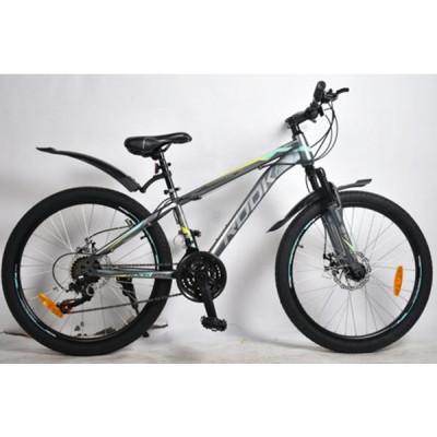 """Подростковый велосипед Rook 24"""" MS241D, серый/желтый"""