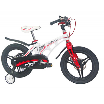 """Детский велосипед BIBITU 18"""" PONY D белый/красный"""