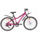 """Подростковый велосипед Nameless 24"""" S4100W, розовый/черный, 13"""""""