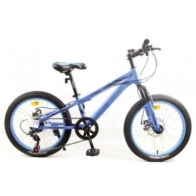 """Подростковый велосипед AVENGER 20"""" C201D, синий/черный, 10"""""""