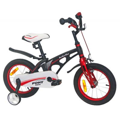 """Детский велосипед BIBITU 14"""" PONY, черный"""