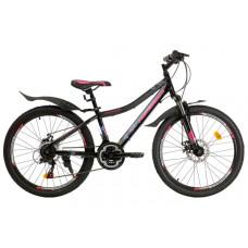 "Подростковый велосипед Nameless 24"" J4000DW, розовый/синий, 13"" 2021"