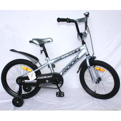 """Детский велосипед Rook 18"""" Sprint серый"""