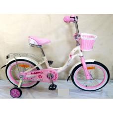 """Детский велосипед Nameless 14"""" LADY, белый/розовый"""