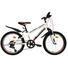 """Подростковый велосипед Nameless 20"""" S2000, белый/черный/красный"""