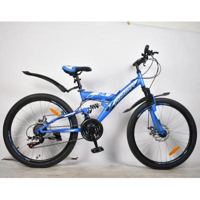 """Подростковый велосипед Rook 24"""" TS240D синий/черный"""