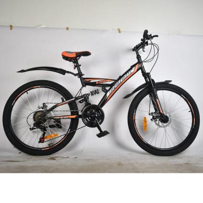 """Подростковый велосипед Rook 24"""" TS240D черный/оранж"""