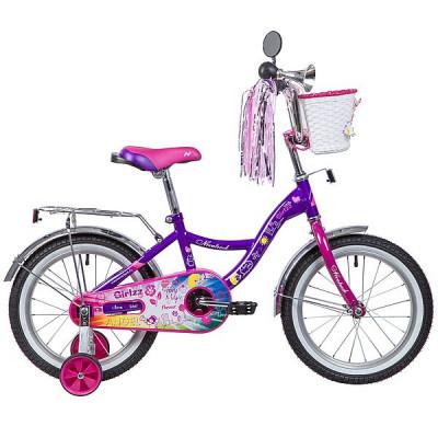 """Детский велосипед 16"""", LITTLE GIRLZZ, фиолетовый 2019"""