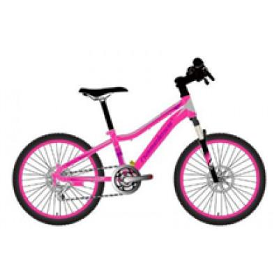 """Подростковый велосипед AVENGER 20"""" C200DW розовый неон/белый"""