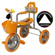 """Велосипед 3-кол. без руч.""""Kinder"""" оранжевый 1/4"""