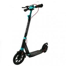 Самокат City scooter Disk черно/бирюза1/4
