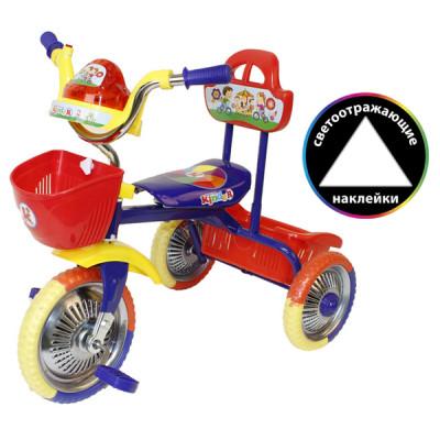 "Велосипед 3-кол. без руч. музык. ""Kinder"" синий"