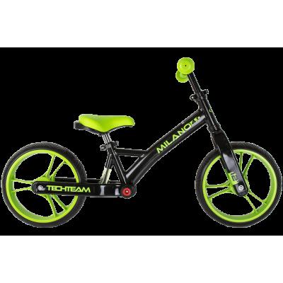Беговел Milano 4.0. с амортизатором, черно-зеленый