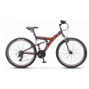 """Горный велосипед Stels Focus V 26"""" 18"""" Тёмно-синий/оранжевый 2021"""