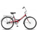 """Складной велосипед STELS Pilot-710 24"""" 16"""" Красный/чёрно-красный"""