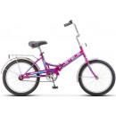 """Складной велосипед STELS Pilot-410 20"""" 13,5"""" Фиолетовый"""