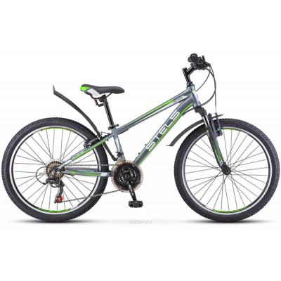 """Подростковый велосипед Navigator-400 V 24"""" 12"""" Серый/зеленый"""