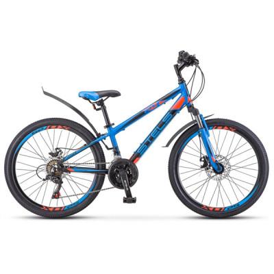 """Подростковый велосипед Navigator-450 V 24"""" V010 13"""" Синий/красный/чёрный"""