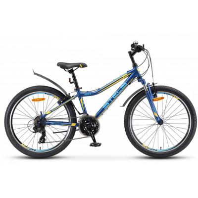"""Подростковый велосипед Navigator-410 V 24"""" 13"""" 21-скТёмно-синий/жёлтый"""