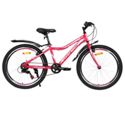 """Подростковый велосипед AVENGER 24"""" C240W, фиолетовый, 13"""" (2021)"""