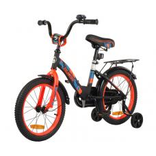 """Велосипед Race light 16"""" черный/ оранжевый неон"""