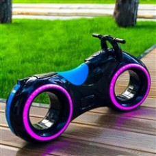 Беговел Tron Bike с bluetooth черно/синий